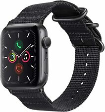 For iWatch Apple Watch Series 3 2 1 42mm Nylon Woven Wrist Band Strap Black