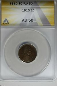 1910   .01   ANACS   AU 50    Lincoln Head Cent, Lincoln One Cent