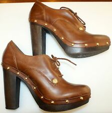 Vince Camuto 'Canasta' Tan Leather Studded Oxford/pump, Burnished Vachetta,10M,