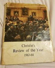 Christie`s Review of the Year 1963-64 Auction Catalog Book