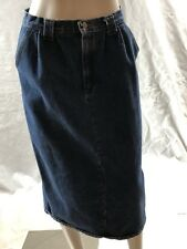 Vivaldi Jeanswear Vintage Blue Jean Denim Skirt Long Straight Button Up sz 12