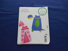 Ellie Mae Designs Animal Wrappers Pattern #K132 Uncut Baby Bunting & Hat XS-XLg