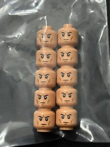 Lego 10 New Star Wars Clone Trooper Heads New Face Minifigure 75280 75283
