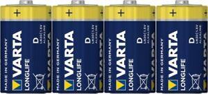 Varta Longlife D LR20 1,5V Alkaline 4er Folie