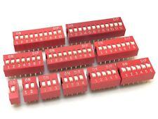 5x DIP Schalter | 1,2,3,4,5,6,7,8,9,10,12 | DIL,SIL,Mäuseklavier