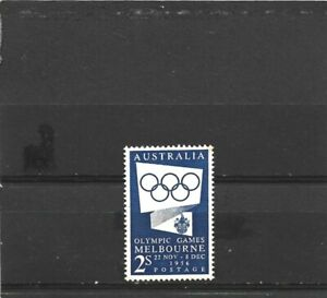 Australia 1954 Olympics 2/- Blue Single MNH