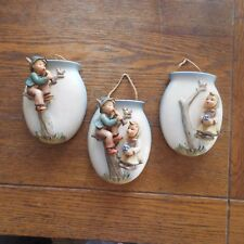 Antique Vintage Set of 3 Hummel Goebel Wall Pocket Vase-Boy & Girl- # 360/A B C