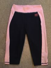 Abercrombie Kids Girls A&F Active Sports Navy & Pink Leggings Size S