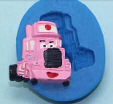 Cars Character Mack Truck Pink Silicone Mold for Fondant GP Chocolate Crafts