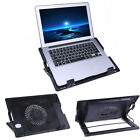 2 USB Adjustable Laptop Cooling Cooler Pad Stand LED for 14-17'' PC Notebook