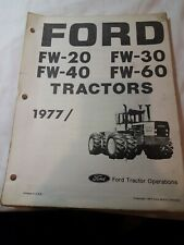 Ford FW-20 FW-30 FW-40 FW-60 4WD Tractor 1977 parts catalog