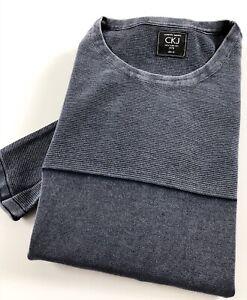 Calvin Klein CKJ Crew Neck Jumper Men's Indigo Grey Pullover Sweater
