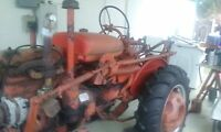 farmall 100 tractor 1955-sn 6914j fair to good cond. new tires. convert to 12v.