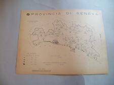 Atlante Comuni Regno D'Italia 1938 Carta topografica Prov.di Genova Liguria