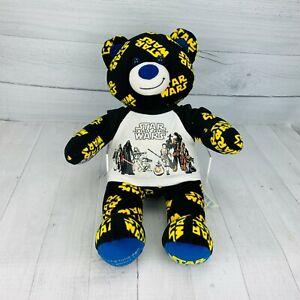 Build A Bear Workshop STAR WARS BEAR Logo Print Black Yellow The Force Awakens