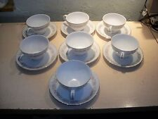 7 Cups and Saucers DANISCO COLLECTION, TEAHOUSE ROSE FINE CHINA