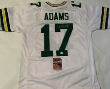 Davante Adams Autographed Green Bay Packers White Jersey JSA Witnessed COA