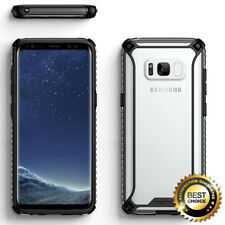 For Galaxy S8 | Poetic [Slim Thin] TPU Bumper Shockproof Clear Case Cover Black