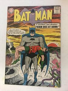 Batman #156 VG+ 1963 Classic Dead Robin Cover