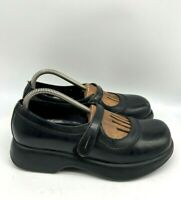 Dansko Womens Comfort Clogs Mules Leather Shoes Black Size 40 US 10