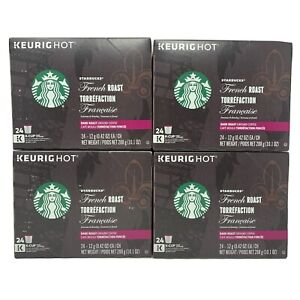 STARBUCKS French Roast Coffee K-Cups Dark Roast 96 ct Best Before 2/2020
