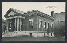 WA Ellensburg LITHO 1910's CARNEGIE PUBLIC PUBLIC LIBRARY Kittitas County