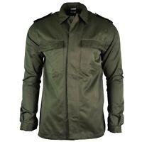 Genuine Belgian army field jacket military BDU olive shirt military combat NEW