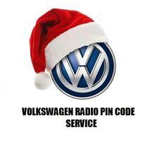 VW Volkswagen Radio Code Unlock Stereo Codes | RCD 310 300 200 210 RNS 315 CODE