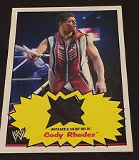 CODY RHODES 2012 Topps Heritage RELIC Authentic WRESTLING Worn SHIRT Rare WWE