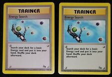 2x 1999 FOSSIL Energy Search TRAINER 59/62 Vintage Pokemon Card Nm *MUST SEE*
