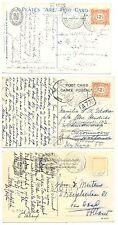 NEDERLAND  S.M.N. 1923/24  3 x PPC SHIP = S.S. JOHAN DE WITT= POSTAGENT  F/VF