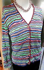 Missoni Orange Label Ladies Cardigan Multi coloured M/L  UK 12 14 rrp @ £700
