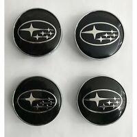 4x 60mm Subaru noir jantes couvercle chapeaux enjoliveur roue couvercle capuchon
