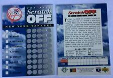2 Unused New York Yankees 1994 Upper Deck Fun Pack Scratch Off Team Cards