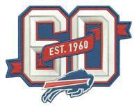 BUFFALO BILLS 60TH ANNIVERSARY PATCH 1960 - 2019 SEASON NFL FOOTBALL LIMITED ED