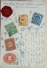 FRANCE 1905 POST CARD DESIGNED WITH SPACES FOR 5 STAMPS OF MEXICO APPLIED