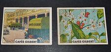 2 CHROMOS 1936 CAFES GILBERT USINE GILBERT PLANTE DU CAFE SERIE 6