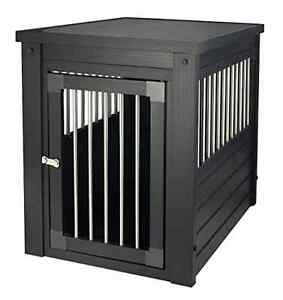 Pet Habitat 'n Home InnPlace Pet Crate with Metal Spindles, Small, Espresso, New