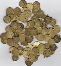 More details for 105 various holed brass oddments in a used condition.