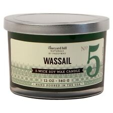 New Vineyard Hill Naturals WASSAIL Soy Candle 3 Wick 12 oz. by PaddyWax ~ USA