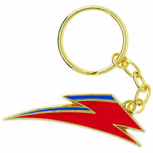David Bowie Lightning Bolt Logo Keychain Red