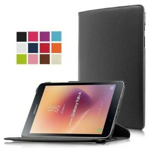 """360 Rotating Leather Case Cover For Samsung Galaxy Tab A (2017) 8"""" SM-T385 T380"""