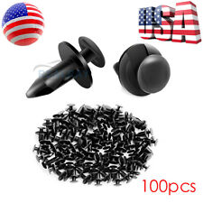100pcs 8MM Hole Plastic Rivets Retainer Fender Bumper Push Pin Fastener Clips