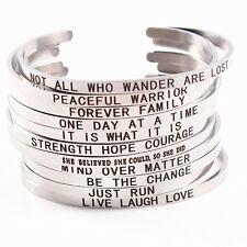wholesale 10pcs men's women's fashion stainless steel Etching bangle bracelets