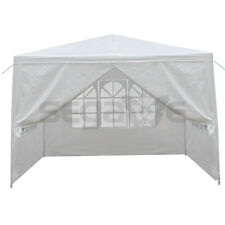 10'x10' Outdoor Wedding Party Tent Patio Gazebo Canopy with Side Walls White