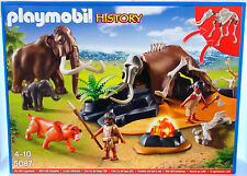 STONE AGE EXCLUSIVE SET Playmobil HISTORY 5087 v.`14 to mammoth Family