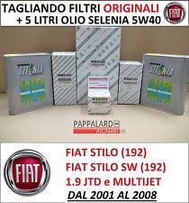 KIT TAGLIANDO ORIGINALE 4 FILTRI + OLIO SELENIA FIAT STILO 1.9 JTD e MULTIJET
