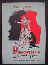 PATROONTEKENEN en knippen – 1950s Dutch dressmaking manual