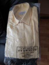 Womens Designer Charles Tyrwhitt Yellow Long Sleeve Cotton Shirt Size 8
