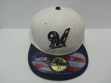 MILWAUKEE BREWERS 59FIFTY New Era baseball hat  SIZE 7 1/2  RED/WHITE/BLUE